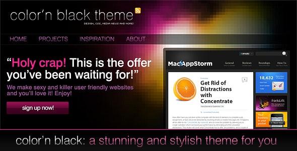 Color'n Black theme - Technology Photoshop