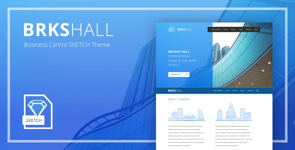 Brooks Hall – Business Centre Sketch Theme - Business Corporate