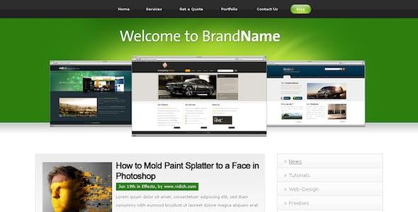 Clean & Professional - Green Web 2.0 -