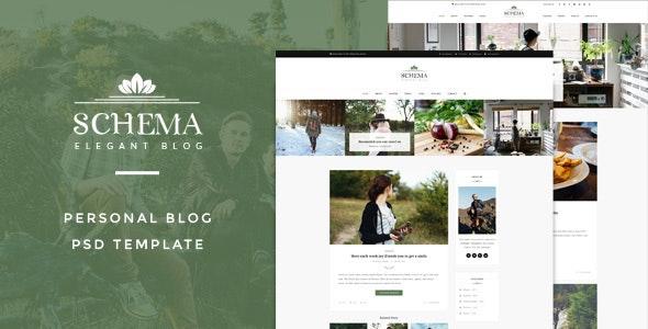 Schema : Elegant Blog Template - Creative Photoshop