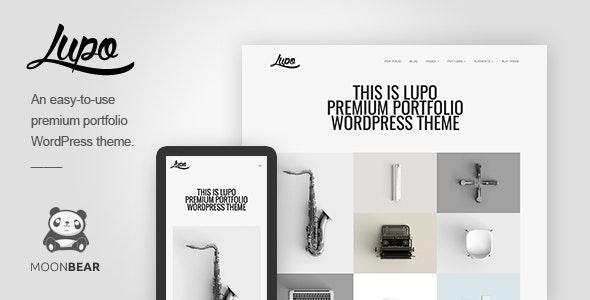 Lupo / Professional Portfolio WordPress Theme - Portfolio Creative