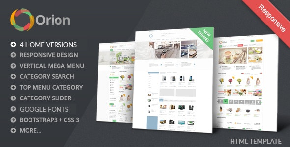 Orion - Mega Shop eCommerce HTML Responsive Template - Shopping Retail