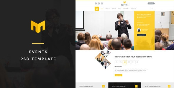 Mitri Events - Conference PSD Template - Business Corporate
