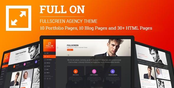 Full On - Fullscreen Creative Agency HTML Theme