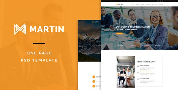 Martin : One Page PSD Template - Creative PSD Templates