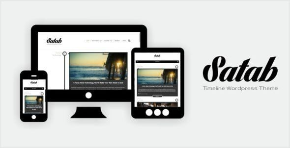 Satab - Timeline WordPress Blog Theme - Blog / Magazine WordPress