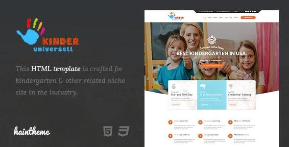 Kinder - Kindergarten & School HTML Template - Children Retail