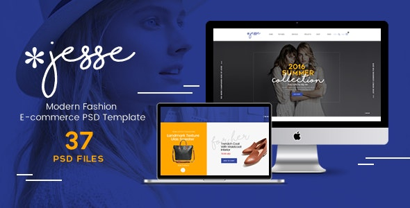 Jesse - Modern Fashion e-commerce PSD Template - Retail PSD Templates