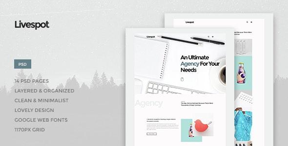 Livespot - Creative Agency PSD Theme - Photoshop UI Templates