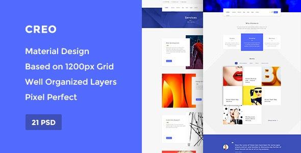 Creo — Modern Design Studio & Creative Agency PSD Template - Creative Photoshop