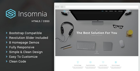 Insomnia - Beautiful and Modern HTML 5 / CSS 3 Corporate Template - Business Corporate