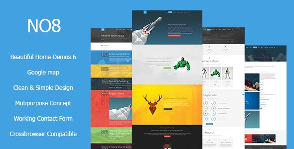 NO8 HTML - Creative Agency Portfolio Theme - Creative Site Templates