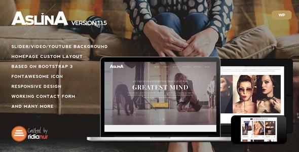 Aslina - Responsive One Page Portfolio Theme - Portfolio Creative