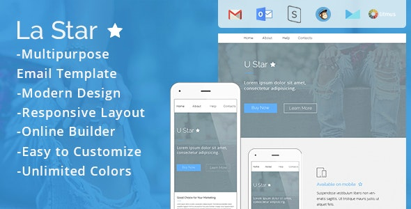La Star - Responsive Email Template - Email Templates Marketing