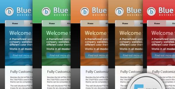 Blue Business Theme - 5 Color Schemes - Business Corporate
