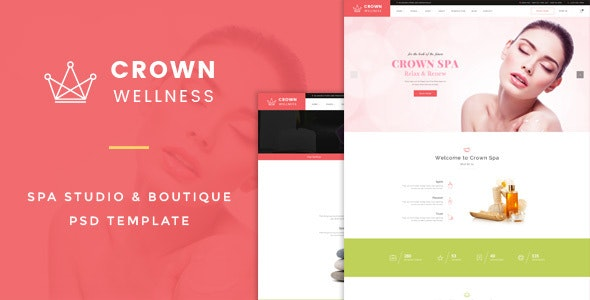 Crown Wellness : Spa PSD Template - Creative PSD Templates