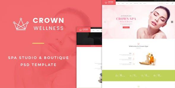 Crown Wellness : Spa PSD Template