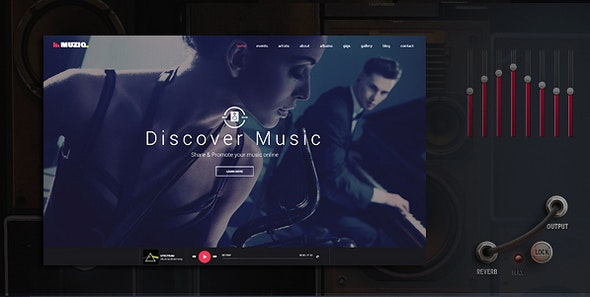 Muziq - Music Band & Musician Template - Music and Bands Entertainment