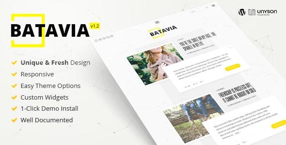 Batavia   A Fresh WordPress Personal Blog Theme - Personal Blog / Magazine