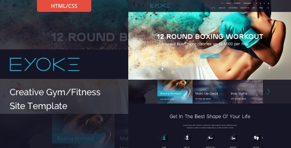 Eyoke - Creative Gym/Fitness HTML Template by themexy