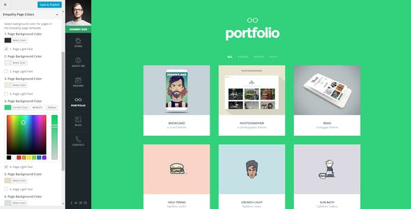 Empathy - A vCard WordPress Theme