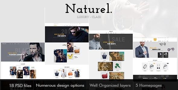 Naturel Psd Template - Photoshop UI Templates