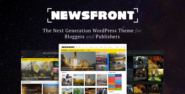 NewsFront: Blog, News & Editorial eCommerce WordPress Theme - Blog / Magazine WordPress
