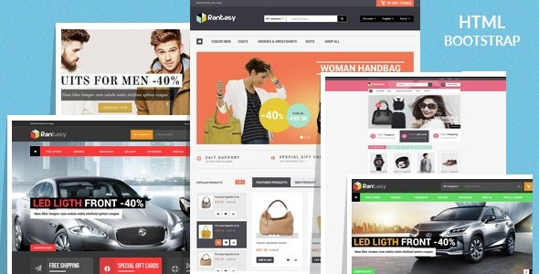 Rantasy - Fashion & Car Parts Shop eCommerce HTML Template - Shopping Retail