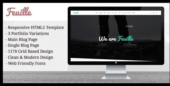 Feuille - Creative & Unique Portfolio Template HTML5 - Creative Site Templates