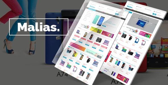 Malias - Electronics Shop eCommerce HTML Template - Electronics Technology
