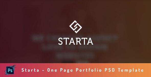 Starta - One Page Portfolio PSD Template - Portfolio Creative