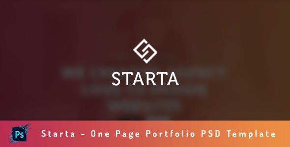 Starta - One Page Portfolio PSD Template