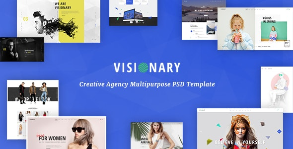 Visionary - Creative Agency Multipurpose PSD Template - Creative PSD Templates
