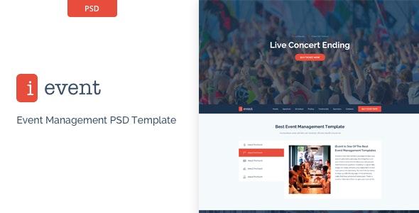 iEvent - Event Management PSD Template - Events Entertainment