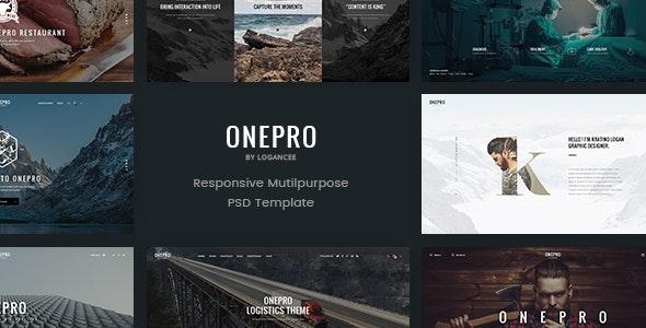 OnePro - Creative Multipurpose PSD Template - Creative Photoshop