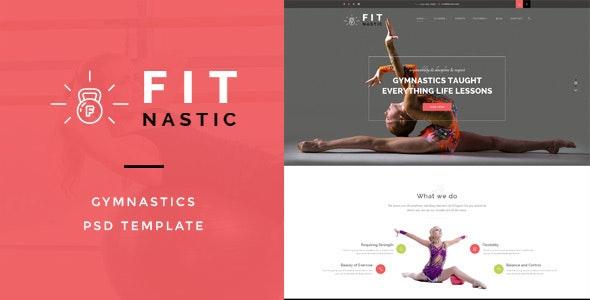 Fitnastic – Gymnastic PSD Template - Health & Beauty Retail