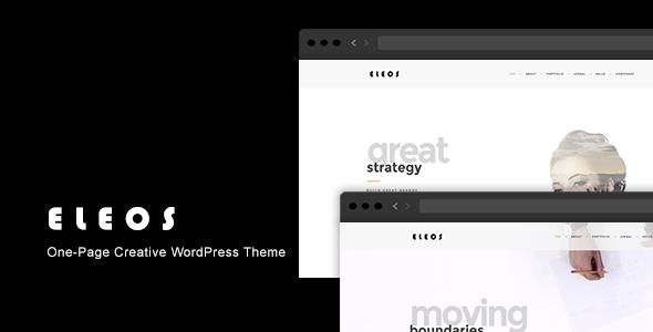 Eleos - One-Page Creative WordPress Theme - Portfolio Creative