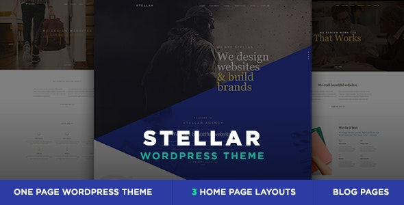 Stellar - One Page Multipurpose Responsive WP Theme - Creative WordPress