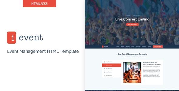 iEvent - Responsive Event Management HTML5 Template - Events Entertainment