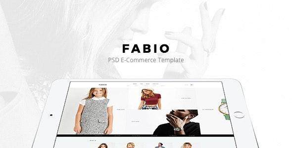 Fabio - Fashion E-commerce PSD - Fashion Retail