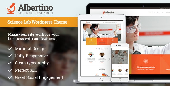 Albertino - Science Research & Technology WordPress Theme - Technology WordPress