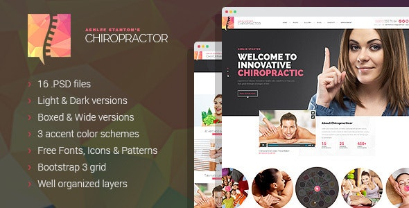 Chiropractor - Therapy and Rehabilitation PSD Template - Health & Beauty Retail
