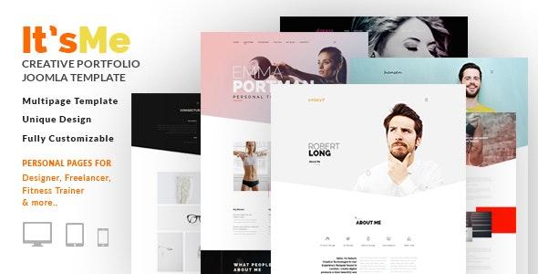 It's Me - Creative Personal Portfolio or Agency Responsive Joomla Template with 3 Styles - Portfolio Creative