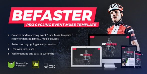 BeFaster - Pro Cycling Mountain Bike Event / Race / Competition Muse Template - Miscellaneous Muse Templates