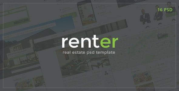 Renter — Rent & Sale Real Estate Agency PSD Template - Business Corporate