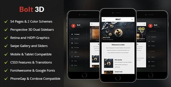 Bolt 3D Mobile - Mobile Site Templates