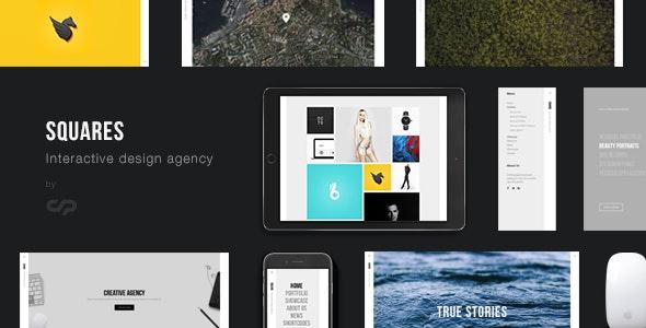 Squares - Interactive Design Agency Portfolio WordPress - Creative WordPress