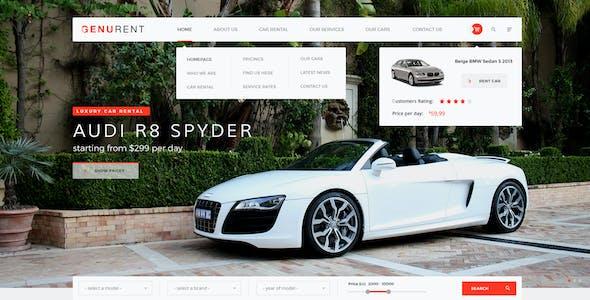 Genurent - Car Rental Service PSD Template