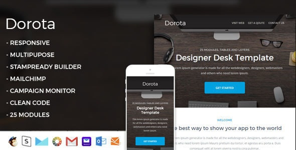 Dorota - Responsive Email Template + StampReady Builder - Email Templates Marketing