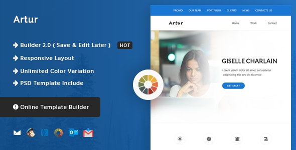 Artur - Responsive Email and Newsletter Template  - Newsletters Email Templates